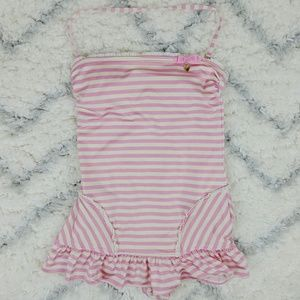 Juicy Couture Boudoir pink cream striped swimsuit
